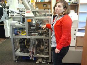 Anna Micklin, Self Publishing Coordinator UW-Seattle Bookstore, Introduces Homer the Espresso Book Machine