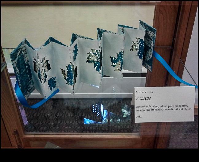 Folium by MalPina Chan; accordion binding monoprint collage
