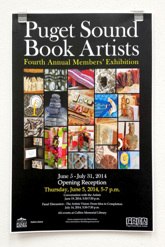 Image of Puget Sound Book Artists 4th Annual Members Exhibition Poster